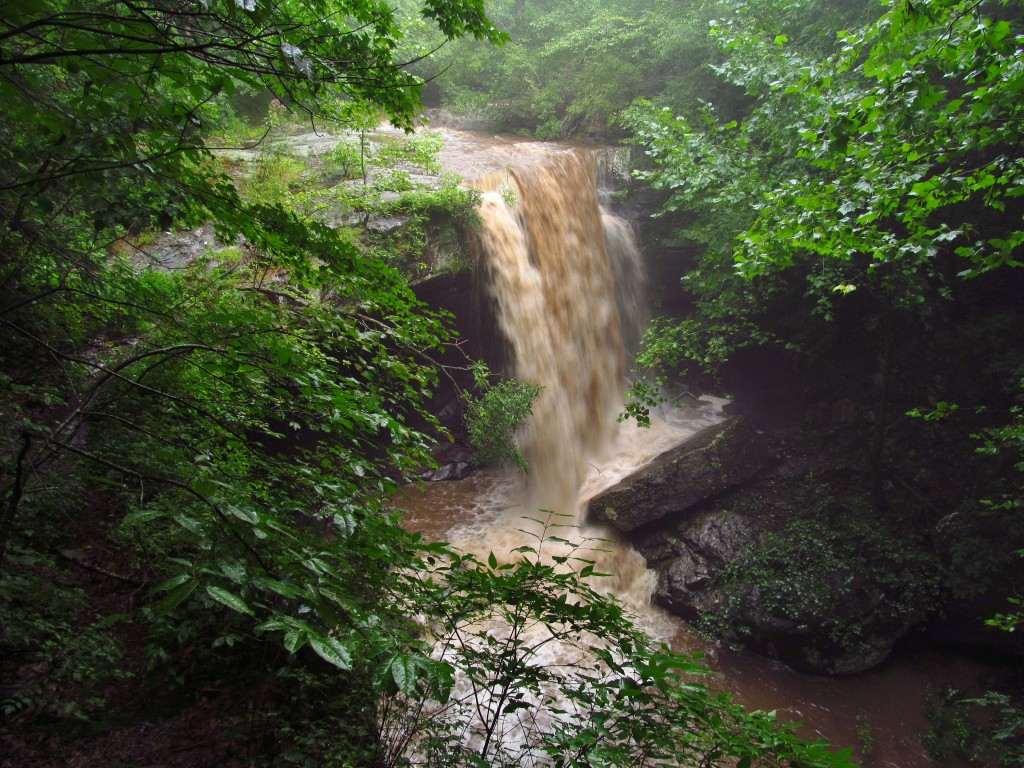Laurel Falls of Savage Gulf after a thunderstorm